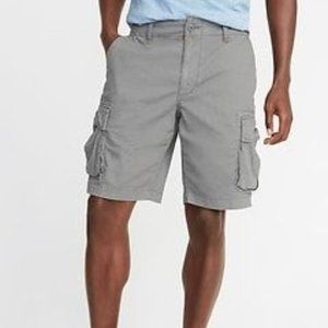 Old Navy Gray Lived-In Straight Cargo Shorts